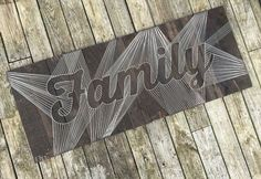 Custom Lettered String Art Word and Phrase by BryanKiddDesigns