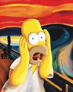 Homer Scream The Simpsons© and 2012 Twentieth Century Fox Film Corporatio The Simpsons Tv Show, Simpsons Art, Simpson Tv, Homer Simpson, Arte Pop, Le Cri Munch, Scream Parody, Pop Art, Arte Van Gogh