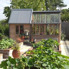 reclaimed wood shed greenhouse attached - Google Search