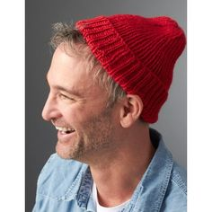 Steve's Beanie free knitting pattern - Inspired by the iconic Team Zissou hat from The Life Aquatic with Steve Zissou, this cozy beanie is a cool-weather essential for ladies and gents alike.