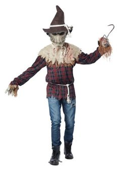 [Mens Halloween Costumes] California Costumes Men's Sadistic Scarecrow Costume, Brown, Large/X-Large -- Check out the image by visiting the link. (This is an affiliate link) Scary Scarecrow Costume, Scarecrow Makeup, Halloween Scarecrow, Scary Costumes, Adult Costumes, Female Costumes, Halloween Outfits, Halloween Costumes For Sale, Halloween Ideas