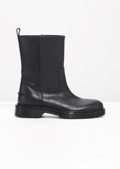 & Other Stories | Chunky Leather Boots Stlk 41