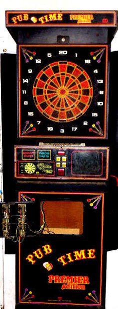 Coin-Operated Pub Time Dart Board - Circa 1988 - Merrit Industries #MeritIndustries