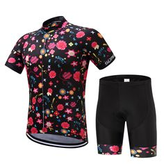 Super Mix of Colorful Flowers Prints Summer Jersey and Shorts Set #Affiliate