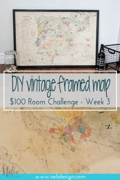 DIY Vintage map | Ho