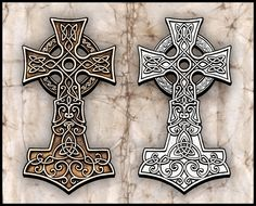 I just think it looks amazing, it seems to be a Celtic cross mixed with mjolnir, maybe, a bit of a clash of cultures...or perhaps it represents harmony of them?