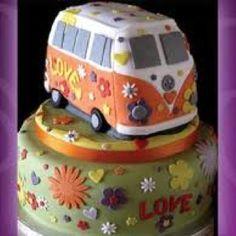 Hippie Volkswagen bus cake