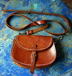 Small Vintage Brown Leather Mini Saddle Bag Purse by misele Leather Saddle Bags, Leather Purses, My Bags, Purses And Bags, Luxury Purses, Brown Bags, Vintage Bags, Leather Accessories, Brown Leather