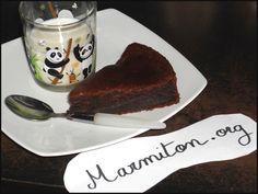 Gâteau fondant au chocolat sans oeufs - Recette de cuisine Marmiton : une recette