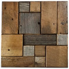 Products - E & S Wood Tile - Natural Meldrum - Garden State Tile Wood Wall Tiles, Wood Mosaic, Reclaimed Barn Wood, Mosaic Patterns, Diy And Crafts, The Incredibles, Rustic, Gallery, Nature