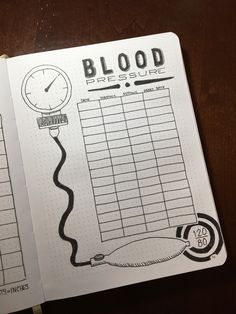Blood pressure tracker #bulletjournaling