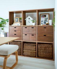 02 | インテリア相談会 事例集 | 無印良品 Muji Furniture, Bedroom Furniture Makeover, Built In Furniture, Furniture Design, Estilo Muji, Muji Storage, Muji Home, Muji Style, Stacking Shelves