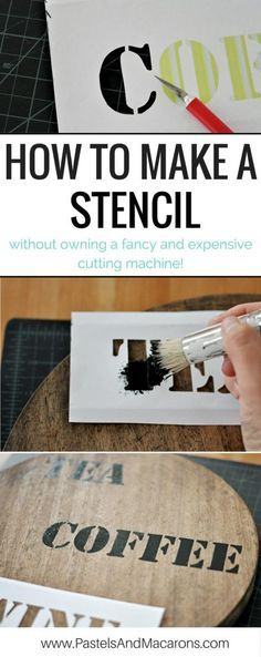 Learn how to make a stencil with this easy to follow DIY stencil tutorial. Have fun creating this project. Stencil letters or other intricate designs on to wood, fabric, whatever you like!