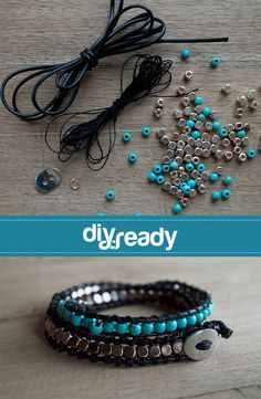 Look great and have fun making it. Get this trendy Turquoise & Copper kit, with everything you need to make a great bracelet.