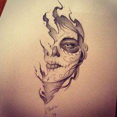 Resultado de imagem para catrina sketch tattoos
