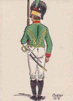 Light Infantryman of Voluntarios de Cataluna 1807. Serving with the Romana Division in Germany.