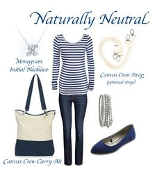 Naturally Neutral, Thirty One, Monogram Initial Necklace, Canvas crew strap, Canvas Crew https://www.mythirtyone.com/587941/shop/Home