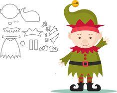 Moldes de feltro para natal - Ver e Fazer