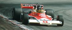 James Hunt, British, McLaren. Fierce competitor, brash, and charismatic. Brought Gilles Villeneuve to F1, competed with Lauda.