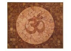 Om - The Source - Wood Mosaic - 2018 by Sureel Kumar at SureelArt Gallery Gidderbaha, India / Vienna Austria. Made with teak, pine, plywood & wood sealer. Wood Sealer, Wood Mosaic, Om, Vintage World Maps, December, Gallery, Artwork, Work Of Art, Roof Rack