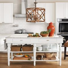 Williams-Sonoma Home features luxury home furniture for every room. Find expertly crafted home furnishings and decor at Williams-Sonoma Home. Marble Top Kitchen Island, Kitchen Tops, New Kitchen, Kitchen Dining, Kitchen Cabinets, Kitchen Islands, Kitchen Carts, Stylish Kitchen, Wooden Kitchen