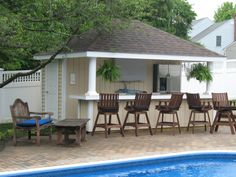 pool houses sheds bar | 12' x 14' Siesta Poolside Bar (vinyl siding)