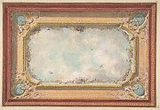 Design for a ceiling with trompe loeil sky (Blue) Poster Print by Jules-Edmond-Charles Lachaise (French, died x Wallpaper Ceiling, Ceiling Murals, Wall Murals, Painted Paneling Walls, Trumeau, Blue Poster, Classic Theme, Decorative Mouldings, Victorian Dolls
