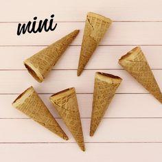 Mini Ice Cream Cones www.LayerCakeShop.com