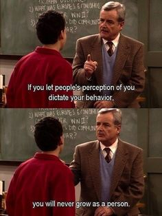 "Be yourself: | The 13 Most Important Life Lessons Learned From Mr. Feeny On ""Boy Meets World"""