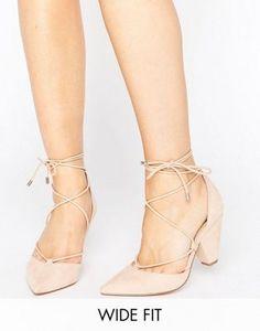 Туфли на каблуке для широкой стопы со шнуровкой ASOS SINEAD