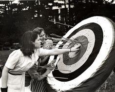 1940s Archery Target by vassarcollegearchives, via Flickr