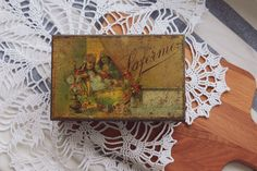 Antique tobacco tin box, Laferme, Made in 20's or 30's, Storage box for cigars, very rare by RetroDeer on Etsy
