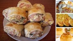 Strudel with ham and cheese Slovak Recipes, Czech Recipes, Russian Recipes, Cheese Recipes, Seafood Recipes, Dinner Recipes, Food Network Recipes, Cooking Recipes, Good Food