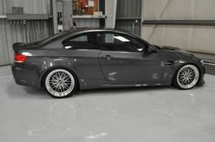 BMW M3 (E92) sitting on forged BBS LM hoops.