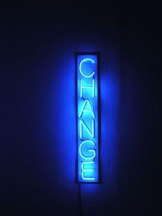 'Change' Neon by artist Nikolaj B. S. Larsen
