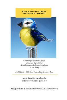 www.freeform-glas.de Kunsthandwerk, Design, Glaskunst, angewandte Kunst,  Ein besonderes Glasobjekt, um deinen Garten noch ein wenig schöner zu gestalten. Little White, Studio, Design, Arts And Crafts, Nice Asses, Lawn And Garden, Studios