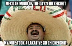 Mexican WOTD: Chickenshit