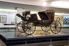 "Now on display: The carriage that transported President Lincoln, Mary Todd Lincoln, and their guests to Ford's Theatre on April 14, 1865. They saw a performance of ""Our American Cousin."" That evening, John Wilkes Booth assassinated the president. The carriage is on view in conjunction an exhibition at nearby Ford's Theatre, ""Silent Witnesses: Artifacts of the Lincoln Assassination."""