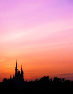 beautiful castle silhouette