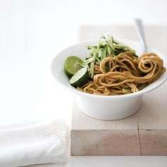Joanne Chang, owner of Flour Bakery + Café in Boston, sets aside her rolling pin to make stir-fries and noodle dishes like this peanutty dan dan at a... Asian Noodle Recipes, Asian Recipes, Ethnic Recipes, Oriental Recipes, Ramen Recipes, Risotto Recipes, Wine Recipes, Great Recipes, Cooking Recipes