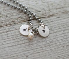 Teeny Tags Necklace from Rusted Chain