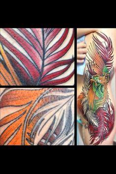 Phoenix tattoo fourth session