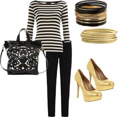 """""""Black and Gold"""" by karrina-renee-krueger on Polyvore"""