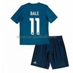 35cb8c41 Billige Fotballdrakter Real Madrid Barn 2017-18 Gareth Bale 11 Tredje  Draktsett Fotball Kortermet