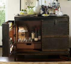 Ludlow Trunk Bar Cabinet | Pottery Barn