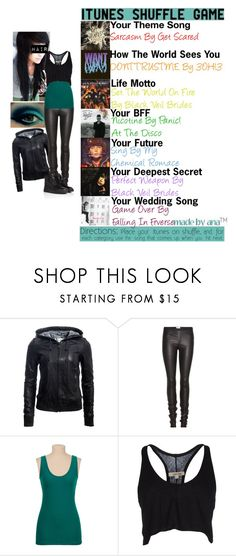 """""""Mobster wife #310"""" by dementedkat ❤ liked on Polyvore featuring Danier, Helmut Lang, DAMIR DOMA and Giuseppe Zanotti"""