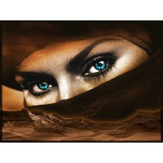 Desert Eyes, Wallpapers Metal Graphic Arts: Heavy Metal wallpapers,... ❤ liked on Polyvore featuring eyes, models, faces, female and people