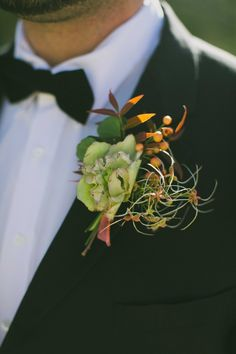 boutonniere (Floral Design: Sprout) - Elegant Fall Wedding Ideas from Texas by Annabelle Mode with Wedding Mode (Event Design and Decor) + Amber Vickery Photography - via ruffled