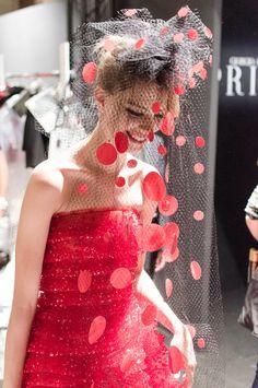 backstage at the #GiorgioArmani Privé Couture Fall 2014 fashion show