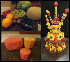 Healthy Birthday Cake or Center Piece  by www.muffinsvsmuffintop.blogspot.com/
